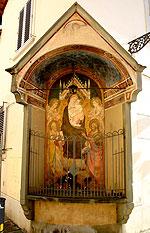 tabernacolo con stemma tintori firenze