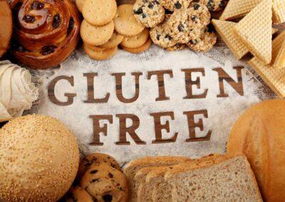 Colazioni senza glutine profumate e gustose brioches fresche di pasticceria specializzata